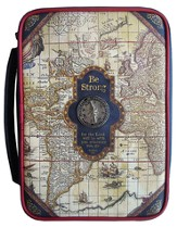 Nautical Map Bible Cover, X-Large