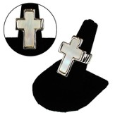 Mother of Pearl Cross Stretch Ring