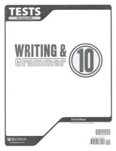 BJU Writing & Grammar Grade 10 Tests, Third Edition