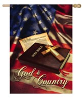 God and Country Flag, Large
