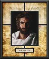 Prince of Peace with Guttenburg Bible Page Framed Art