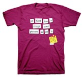 If God Had a Fridge Shirt, Magenta, Small