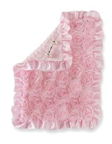 Rosette Woobie Blanket and Rattle Set, Pink