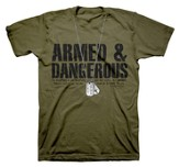Dogtags, Armed & Dangerous Shirt, Green, 3X Large
