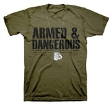 Dogtags, Armed & Dangerous Shirt, Green, 4X Large