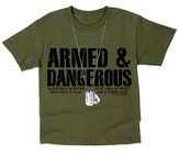 Dogtags, Armed & Dangerous Shirt, Green, Youth Medium