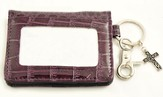 Wallet, Keychain, Cross, Crocodile, Purple
