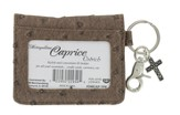 ID Wallet, Keychain with Cross Charm, Brown