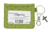 ID Wallet, Keychain with Cross Charm, Green