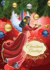 Angel Ornament Christmas Cards, African American , 15 Cards