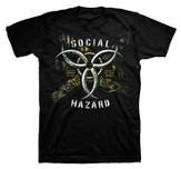Social Hazard II Shirt, Black, XX Large