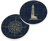 Nautical Car Coasters, Set of 2