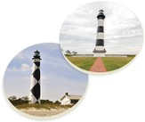 Lighthouse Car Coasters, Set of 2