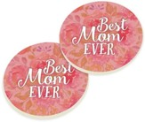 Best Mom Ever Car Coasters, Set of 2