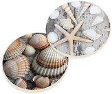 Colored Shell Car Coasters, Set of 2