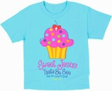 Sweet Cupcake Shirt, Blue, Youth Medium
