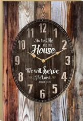 As For Me and My House, We Will Serve the Lord Clock