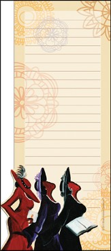Three Ladies Magnetic Notepad