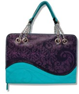 Strength and Majesty Bible Cover, Purple and Teal, Large
