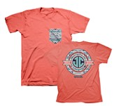 JC Monogram Shirt, Coral, Large
