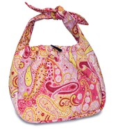 Be of Good Cheer Quilted Hobo Bag, Pink