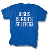 Jesus Is God's Selfie Shirt, Blue, Medium