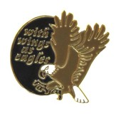 With Wings as Eagles Lapel Pin