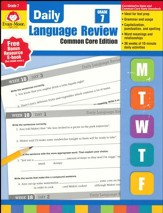 Daily Common Core Language Review, Grade 7 (2015 Revised Edition)