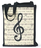 Make a Joyful Noise Music Tote Bag