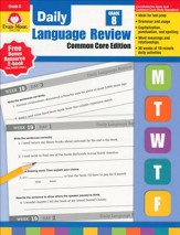 Daily Common Core Language Review, Grade 8 (2015 Revised Edition)