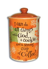 I Can Do All Things Through God Cookie Jar