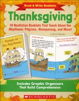 Read & Write Booklets: Thanksgiving: 10 Nonfiction Booklets That Teach About the Mayflower, Pilgrims, Wampanoag, and More!