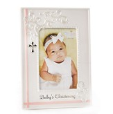 Baby's Christening Photo Frame, Pink