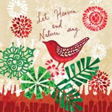 Let Heaven and Nature Sing, Cardinal Christmas Napkins, Pack of 20