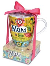 Mom Is Love Mug with Notepad