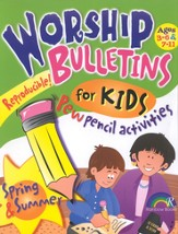 Spring and Summer Worship Bulletins for Kids
