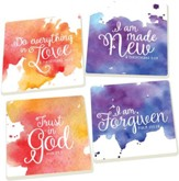Watercolor Scripture Coasters, Set of 4