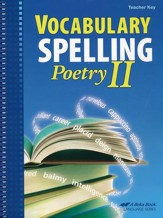 Vocabulary, Spelling, & Poetry II Teacher Key (with CD)