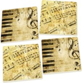Music Coasters, Set of 4