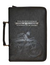 Ride In Triumph Bible Cover, Black, X-Large