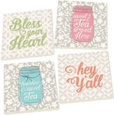 Southern Inspired Coasters, Set of 4