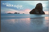 My God is My Rock, Beach Scene Mounted Print