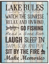 Lake Rules, Mounted Print