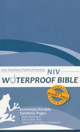 NIV Waterproof Bible New Testament with Psalms and Proverbs, Blue Wave 1984