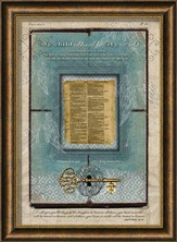 KJV 1611 Bible Page, My Child, Framed Art
