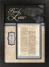 KJV Bible Leaf, The Book of the Law Framed Print