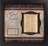 KJV Bible Leaf, As For God Framed Print