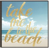 Take Me to the Beach, Glitter Wall Art