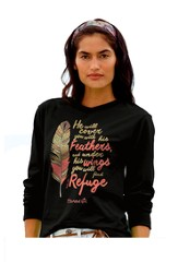 Cherished Feathers, Long Sleeve Shirt, Black, X-Large