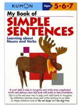 Kumon My Book of Simple Sentences, Ages 5-7